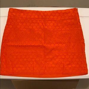 Banana republic burnt orange lace skirt